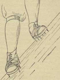 Рис. 26. Положение ног при траверсировании