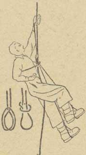 Рис. 8. Подъем на петлях с узлом Пруссика