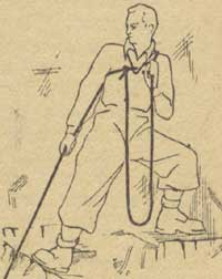 Рис. 13. Охранение через плечо