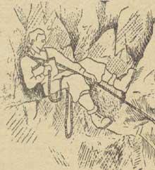 Рис. 14. Охранение сидя