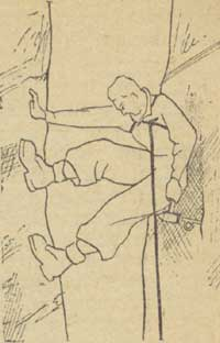 Рис. 24. Лазание в камине