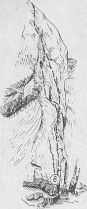 Змеиные скалы, маршрут № 8 (вид слева)