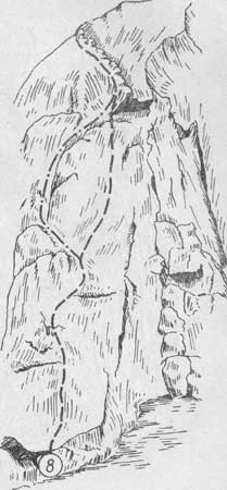 Змеиные скалы, маршрут № 8 (вид в лоб)